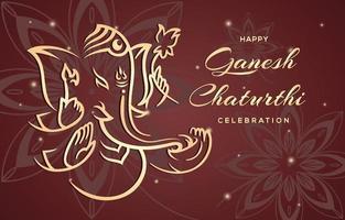 Ganesh Chaturthi Celebration vector
