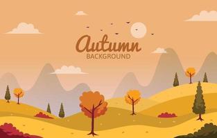Autumn Landscape Scene vector