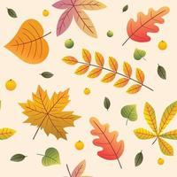 Leaves Autumn Seamless Pattern vector