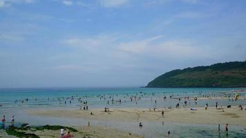 timelapse Hamdeok beach in Jeju Isaland , South Korea video