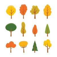 icono de colección de árboles vector
