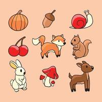 Autumn Flora and Fauna vector