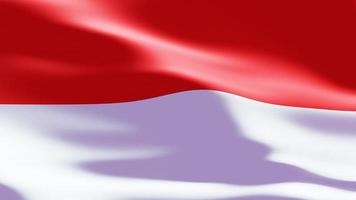 Indonesian flag Closeup waving in wind with slow motion video
