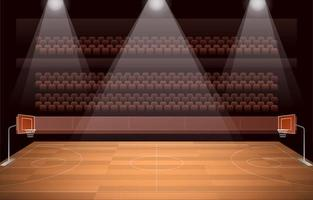 Basket Ball Courts vector
