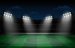 Soccer Stadium Night Background vector