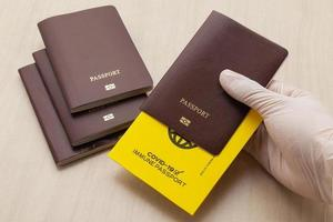 Vaccine passports as proof that the holder has been vaccinated photo