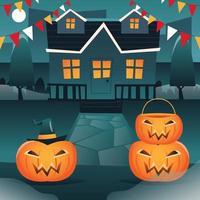Night of Halloween vector
