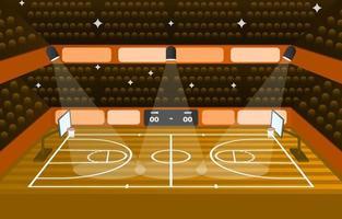 fondo del estadio de baloncesto vector