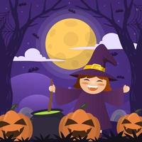 Cute Halloween Celebration vector