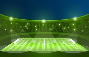fondo del estadio de fútbol de fútbol vector