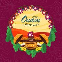 Onam Festival Concept vector