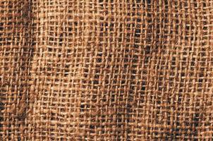 Fondo de textura de arpillera de lino, vista de cerca detallada foto