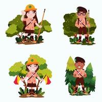 Indonesia Scout Character Concept vector