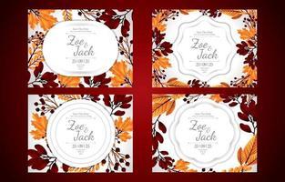 Floral Invitation Card Concept vector