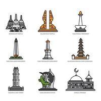 Indonesian Landmark Icon Concept vector
