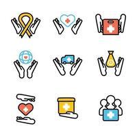 Humanitarian Day Sticker Concept vector