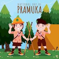 Indonesian Pramuka Day Concept vector