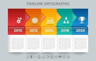 Timeline Infographic Element Template vector