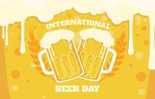 fondo del día internacional de la cerveza vector