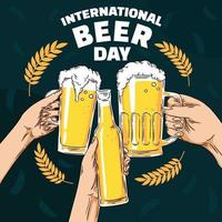 International Beer Day Festival vector