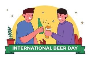 Celebrating International Beer Day Concept vector