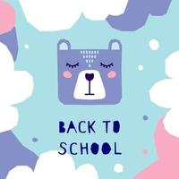 Back to school. Handmade childish crafted background vector