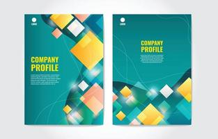 Company Profile Background Template Set vector