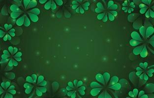 Green Clover Leaf Background Template vector