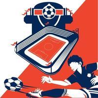 elemento de cartel de la liga de fútbol vector