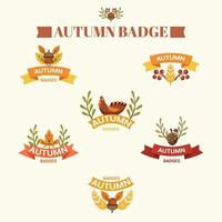 Set of Autumn Badges icons vector