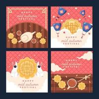 Moon Cake For Mid Autumn Festival Greeting vector