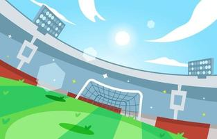 Simple Football Stadium Background vector