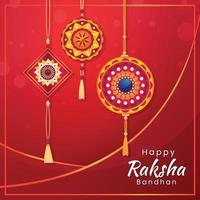 Raksha Bandhan in Red Elegant Color vector