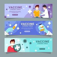 colección de pancartas de vacuna covid 19 vector