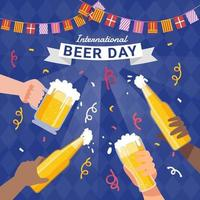 International Beer Day with Friend vector