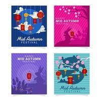 Mid Autumn Festival Card Concept vector