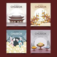 Chuseok Card Collection vector