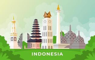 Indonesia Landmark Collection vector