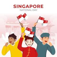 Singapore National Day vector