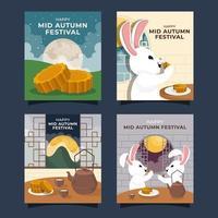 Mooncake Mid Autumn Festival vector