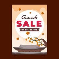Chuseok Sale Poster vector