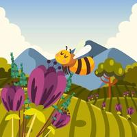 Protect Little Bees Which Create Honey We Love vector