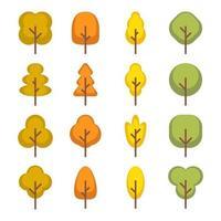 icono de elemento de árbol vector