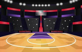 Basketball Sport Tournament Stadium Background vector