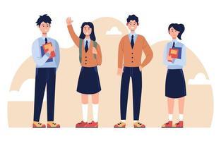High School Boys And Girls vector