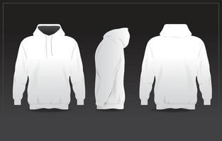 Hoodie Jacket White Jacket Mockup Ready for Use vector
