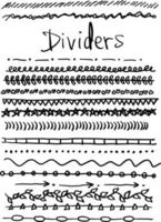 dividers set vector illustration