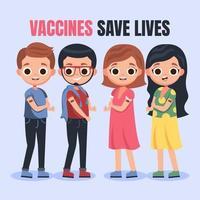 vacunarse puede salvarnos la vida vector
