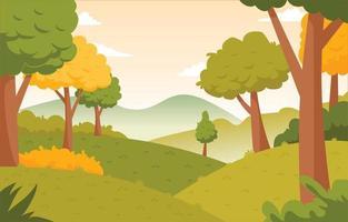 Autumn Landscape View vector