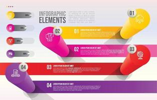 Infographic Step with Gradient Cylinder Shapes vector